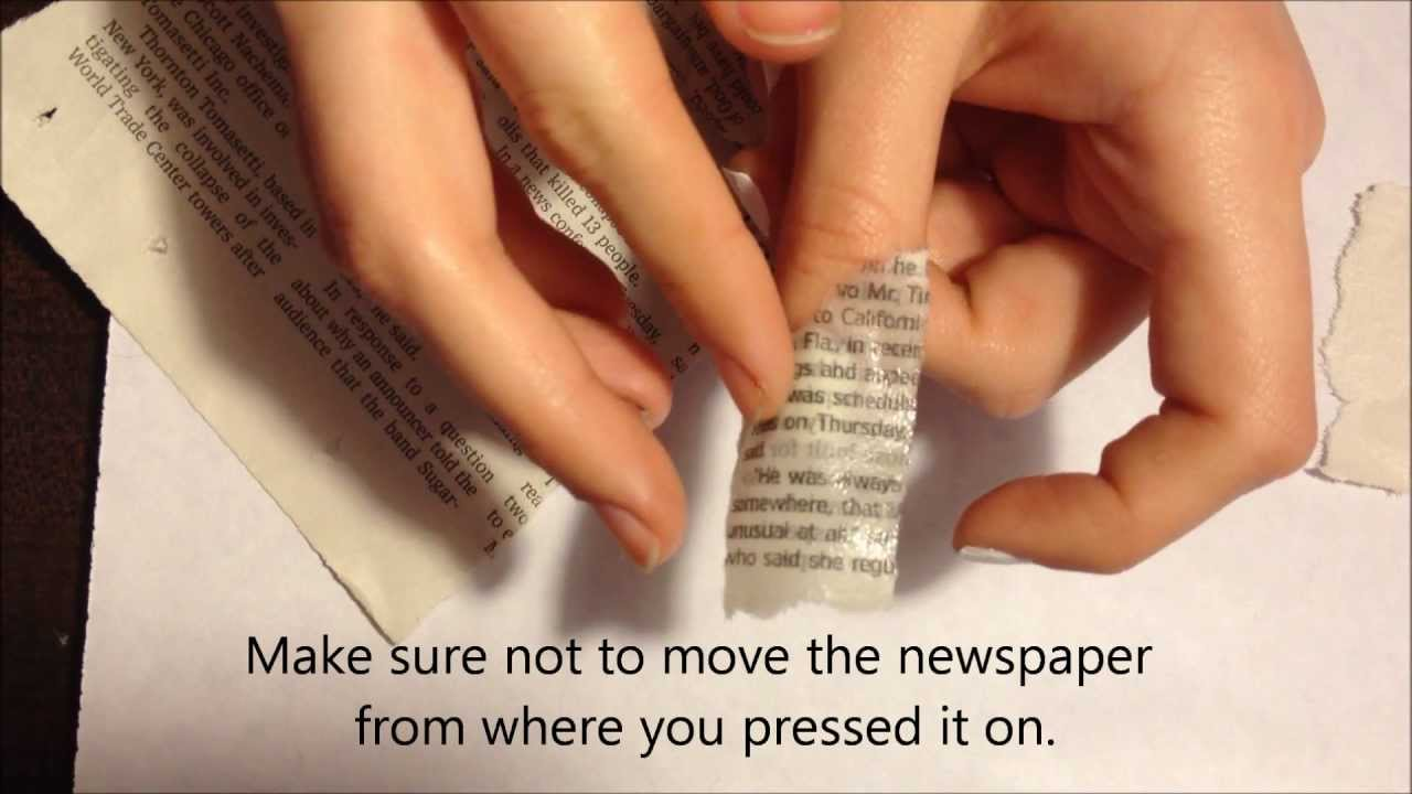 How to: Newspaper Nails (using water) - YouTube