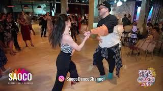 Alexey Polyakov and Olesya Petrova Salsa Dancing at Salsa Night Awards 2018 14.04.2019