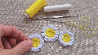Цветы из обычных швейных ниток. Ромашки