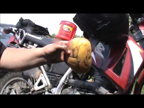 KLR 650 Air Filter Cleaning with Commentary.