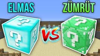 ELMAS VS ZÜMRÜT ŞANS BLOKLARI CHALLENGE - Minecraft