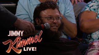 Behind the Scenes with Jimmy Kimmel & Audience (Wolverine Guy)