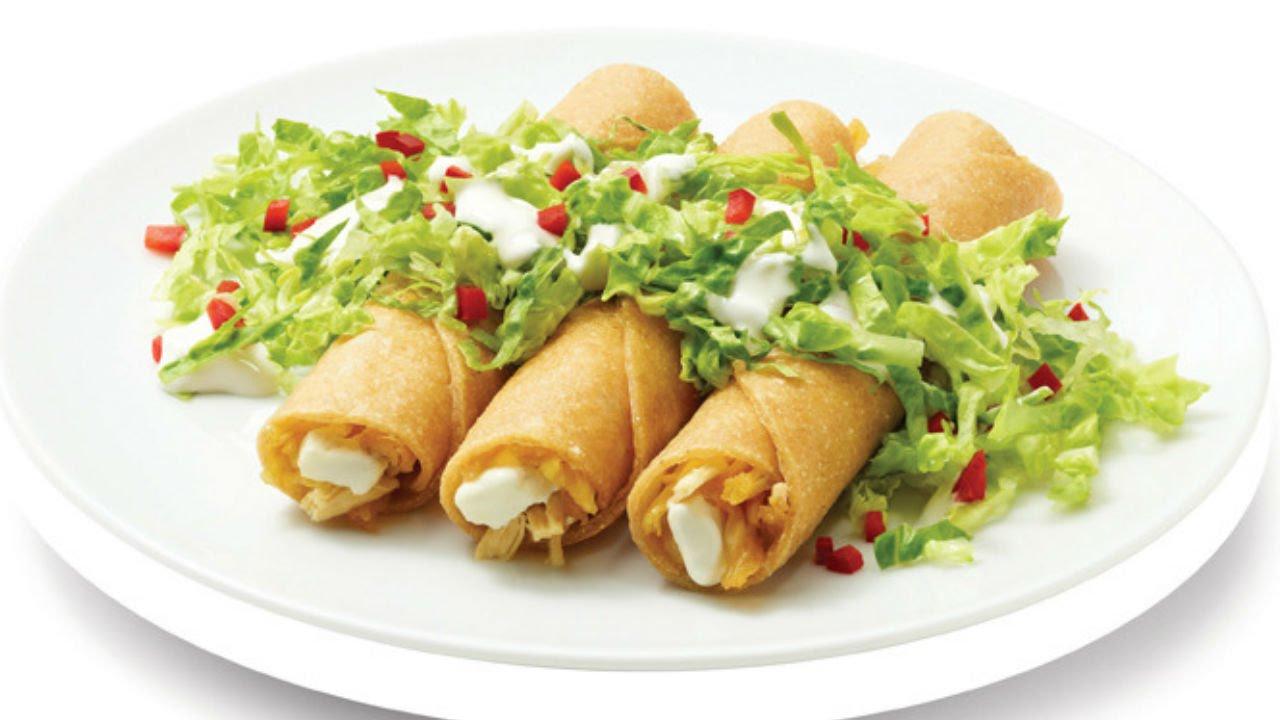 Receta de tacos dorados de pollo receta tacos dorados - Tacos mexicanos de pollo ...