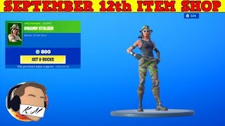 Fortnite Item Shop (September 12th) | *NEW* SWAMP STALKER SKIN + SCANLINE WRAP!
