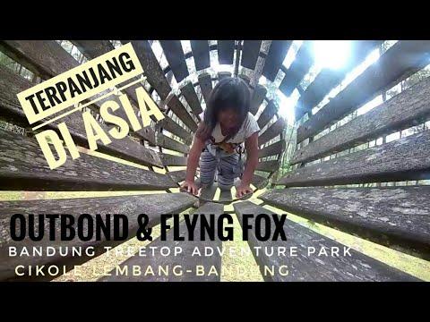 serunya outbond dan flying fox di Bandung treetop Adventure Park cikole