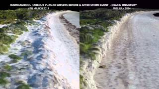 Comparison of UAV data, Warrnambool Harbour (Vic, Australia) before and after storm