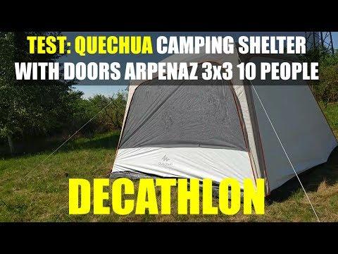 Test Of Quechua Camping Shelter With Doors Arpenaz Decathlon