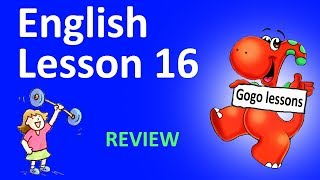 English Lesson 16 –REVIEW. Action verbs, sports| GOGO ENGLISH VIDEO COURSE FOR KIDS