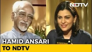 Hamid Ansari on Row Over PM's Remarks at his Farewell