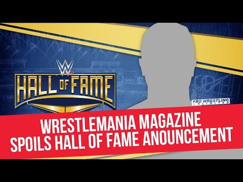 WrestleMania Magazine Spoils WWE Hall Of Fame Announcement
