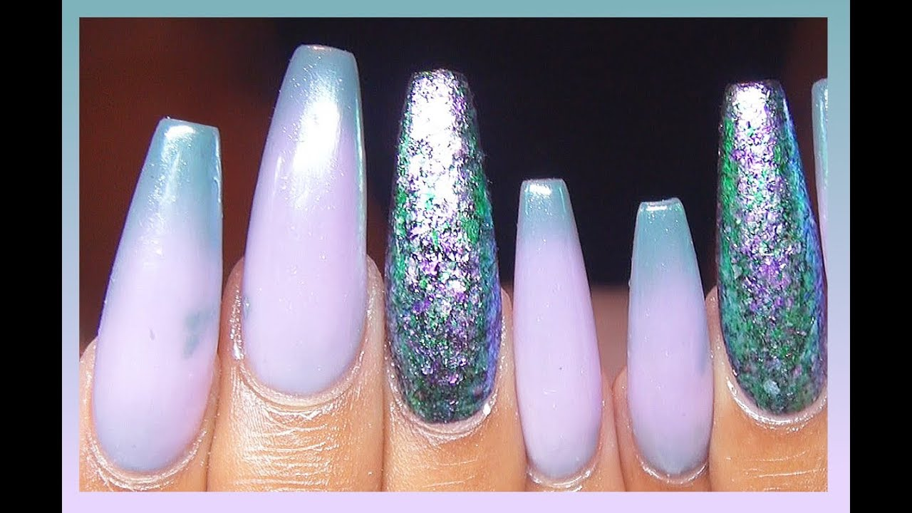 How To Color Changing Acrylic Gel Chrome Nails