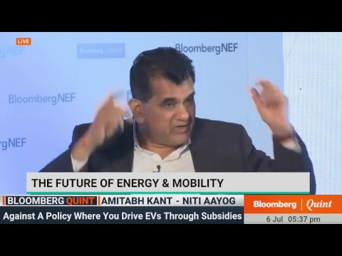 Amitabh Kant On Future Of Energy & Mobility At Bloomberg NEF Executive Forum