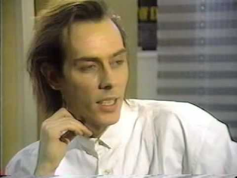 Peter Murphy 1989 TV interview with Bauhaus vocalist