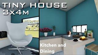 3x4m 12sqm Tiny House Design | 2 Storey House
