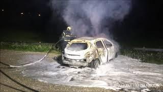 16.08.2019 - Ild i bil ved Lyngby