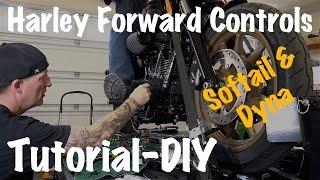 Install Forward Control Pegs, Brake Pedal, Shifter on Harley Softail & Dyna-DIY