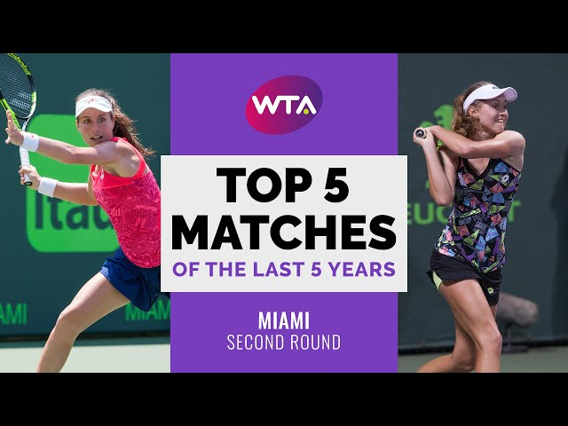 Miami | Top 5 Second Round Matches of the Last 5 Years