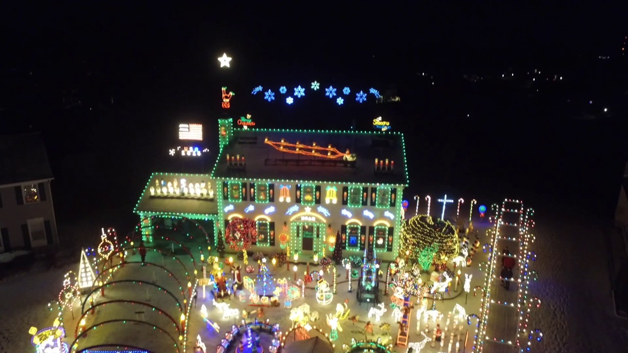 Strongsville Christmas Lights Drone View 2016 Top Rated