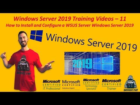 How To Install & Configure WSUS Server Windows Server 2019 - Video 11 Windows Server 2019 Training.