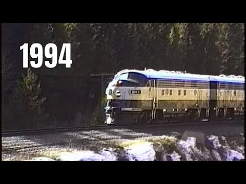 Burlington Northern Executive Fs on Moffat Route, Jan. 13, 1994