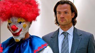 Сэм против Клоуна-убийцы в лифте   Сверхъестественное