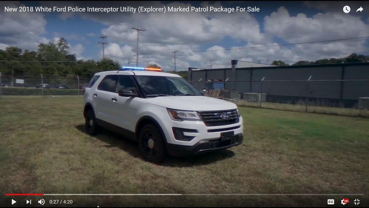 New 2018 White Ford Police Interceptor Utility Explorer Marked Patrol Package For