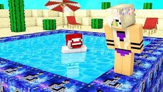 Minecraft Schwimmbad aus Space Blöcken
