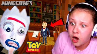 FORKY FROM TOY STORY 4 FOLLOWED ME IN MINECRAFT!! WE FOUND BENSON The DUMMY 's HIDEOUT??