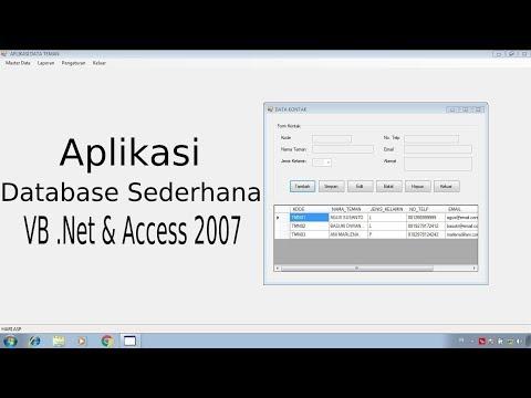 Membuat Aplikasi Vb.net Dengan Database Access