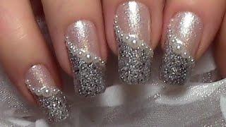 Easy & Elegant Pearl Nail Art Design Tutorial for beginners / Wedding Nails / Nail Polish