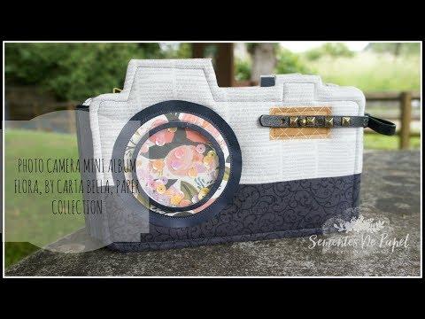 Carta Bella, Flora scrapbooking paper collection - Photo camera mini album
