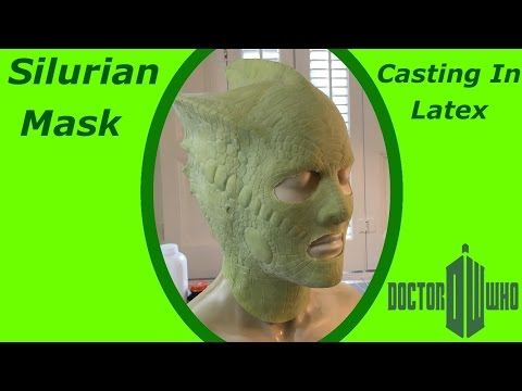 Casting  A Latex Silurian Mask From Doctor Who