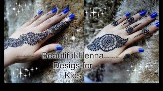 For KIDS: Beautiful easy simple trendy henna mehndi designs for hands for little girls
