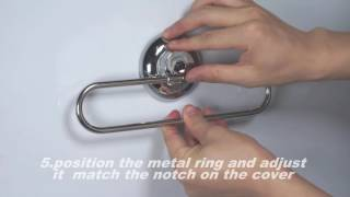 MaxHold suction cup towel ring installation
