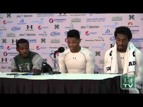 Hawaii Football Post-Game Press Conference Players vs. UC Davis 9-19-15