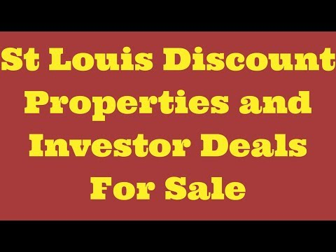 St Louis Discount Properties and Investor Deals For Sale