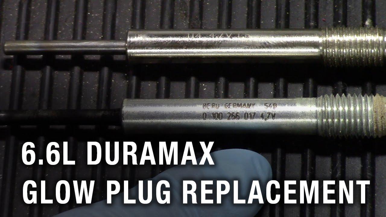 2006 Chevrolet Silverado 2500 Hd 6 6l Duramax Glow Plug Replacement Youtube
