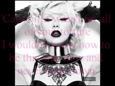 Christina Aguilera Fighter With Lyrics