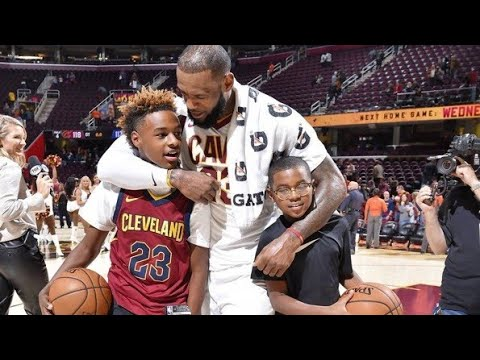 NBA Legends and Stars Sons playing Basketball - Lebron, Shaq, Wade and others