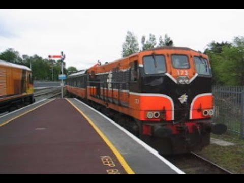 Ireland: Killarney (County Kerry), GM class 141 diesel loco reverses on a Cork to Tralee service