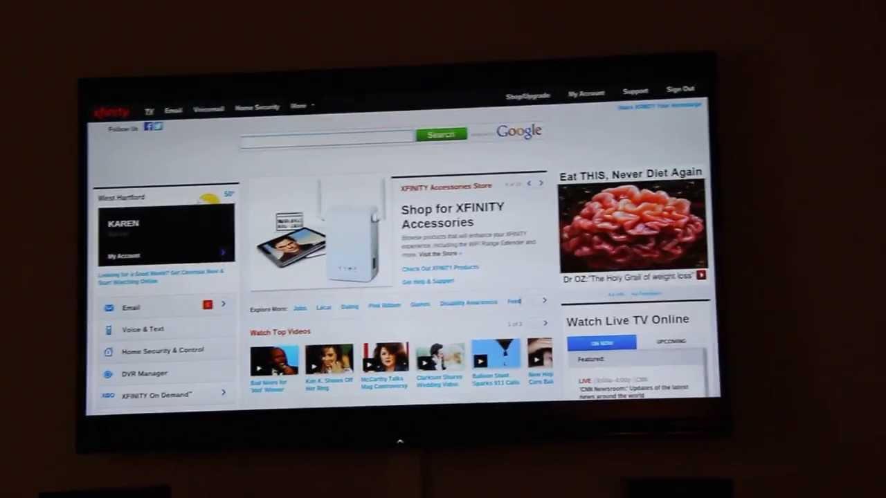 Acer Chromebook C710 with Chromecast to stream Comcast content