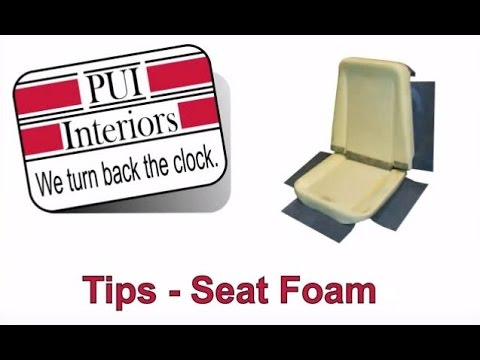 Lovely PUI Interiors Seat Buns Foam Restoration Installation Tutorial Overview