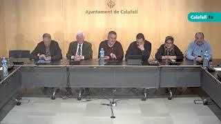 Ajuntament de Calafell: Sessió plenària extraordinària, 29 d'abril de 2019