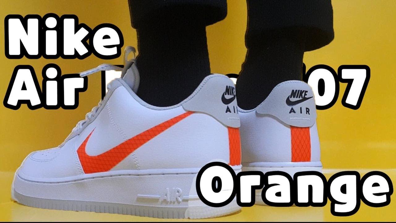 nike air force 1 total orange swoosh