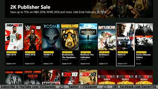 Xbox One Store 2K Games Sale, Anime Month  2/13/18 - 2/19/18