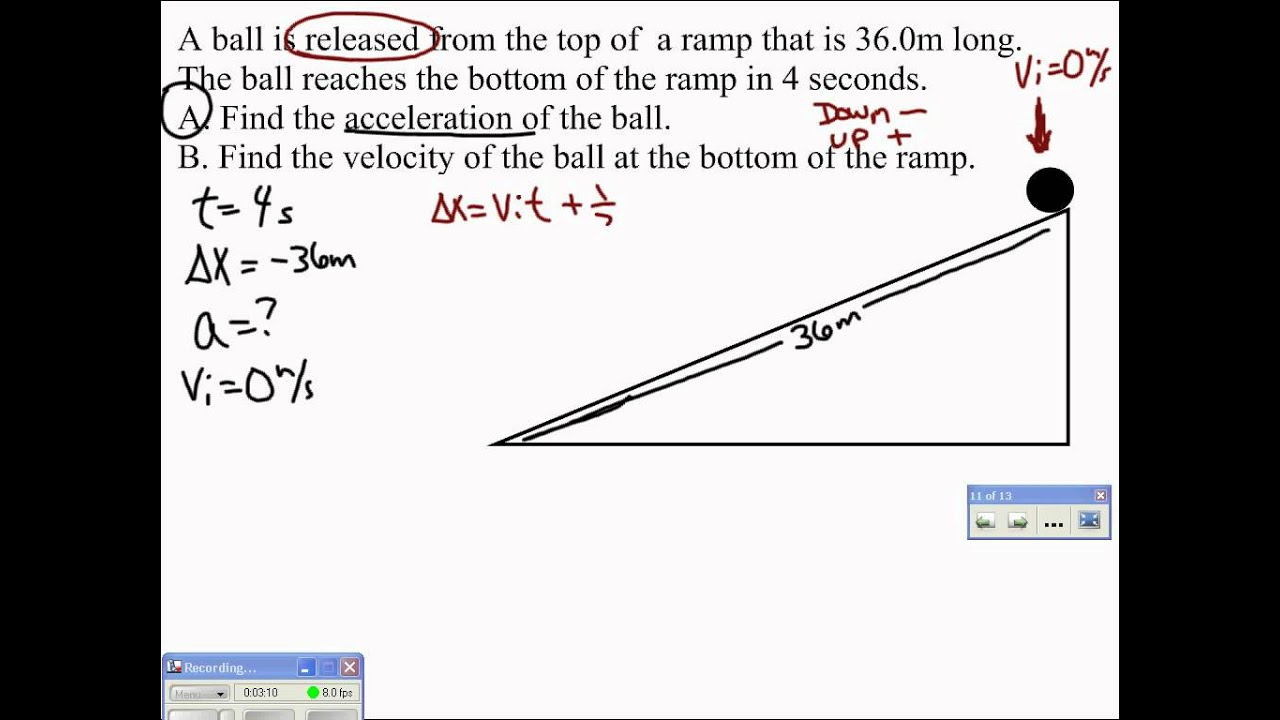 09 Ramp Problem 1 Video 1 Youtube