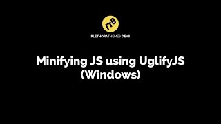 Minifying multiple Javascript files using UglifyJS and Windows Batch file