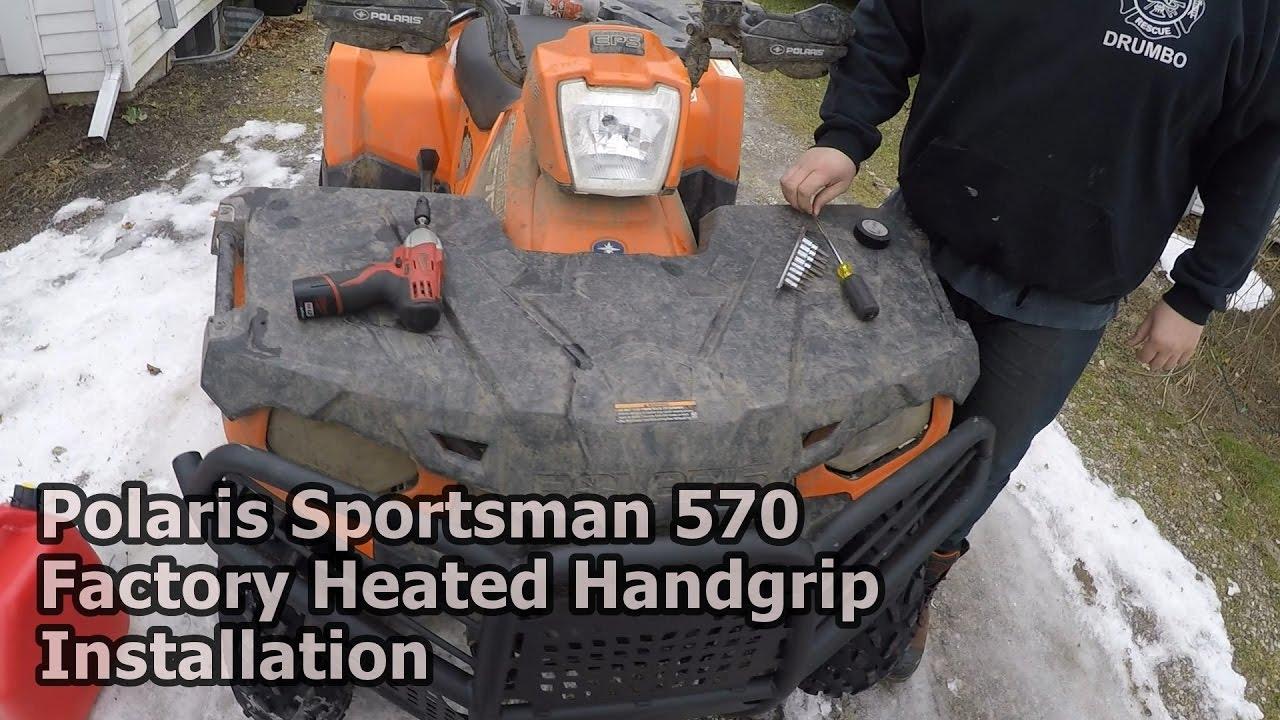 Polaris Sportsman 570 Heated Hand Grip Installation Youtube Scrambler 850 Wiring Diagram