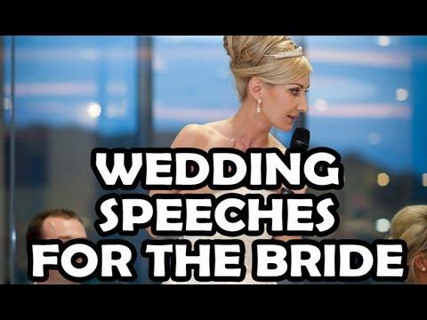 Writing a speech for a wedding