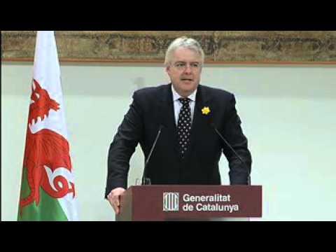 Roda de premsa del president Artur Mas i el primer ministre de Gal·les (01.02.13)